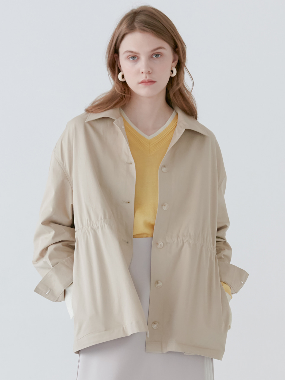 comos'155 cotton jk shirt (beige)