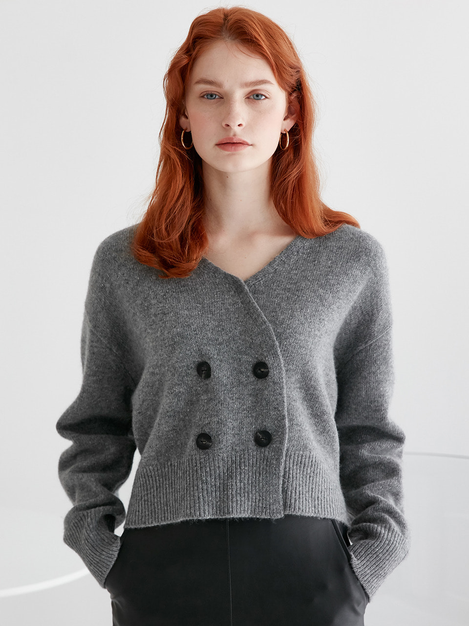 comos'259 double knite cardigan (grey)